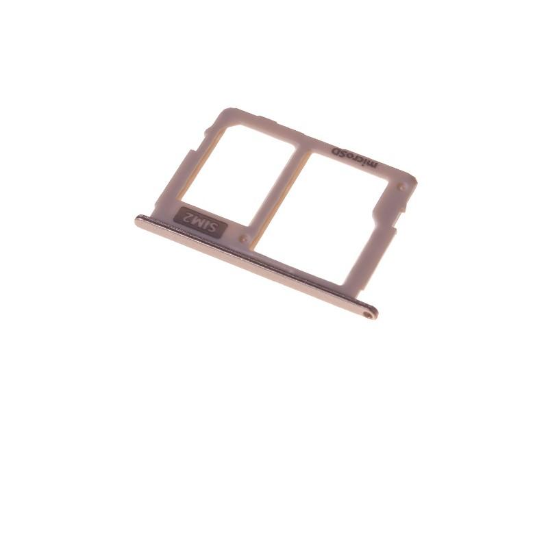 Rack tiroir pour cartes SIM 2 et SD Or pour Samsung Galaxy J5 2017 et J7 2017 photo 2
