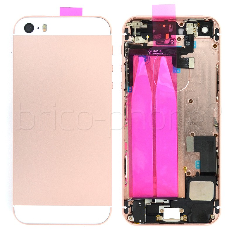 coque arriere pour iphone se or rose