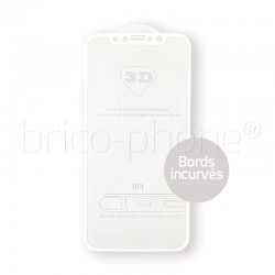Protecteur en verre trempé blanc INCURVE pour iPhone X photo 2