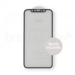 Protecteur en verre trempé noir INCURVE pour iPhone X photo 2