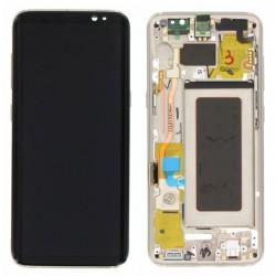Bloc Ecran Amoled et vitre prémontés sur châssis pour Galaxy S8 Or photo 2