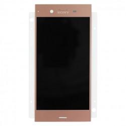 Ecran Rose avec Vitre et LCD prémontés pour Sony Xperia XZ1 photo 2