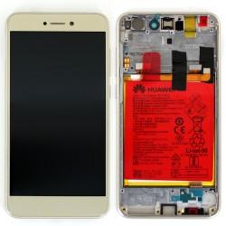 Ecran Or COMPLET prémonté sur châssis  avec batterie pour Huawei P8 Lite 2017 photo 2