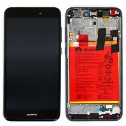 Ecran Noir COMPLET prémonté sur châssis  avec batterie pour Huawei P8 Lite 2017 photo 2