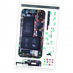 Patron magnétique d'aide au montage pas à pas pour iPhone X