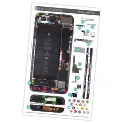 Patron magnétique d'aide au montage pas à pas pour iPhone 8 Plus