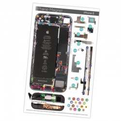 Patron magnétique d'aide au montage pas à pas pour iPhone 8