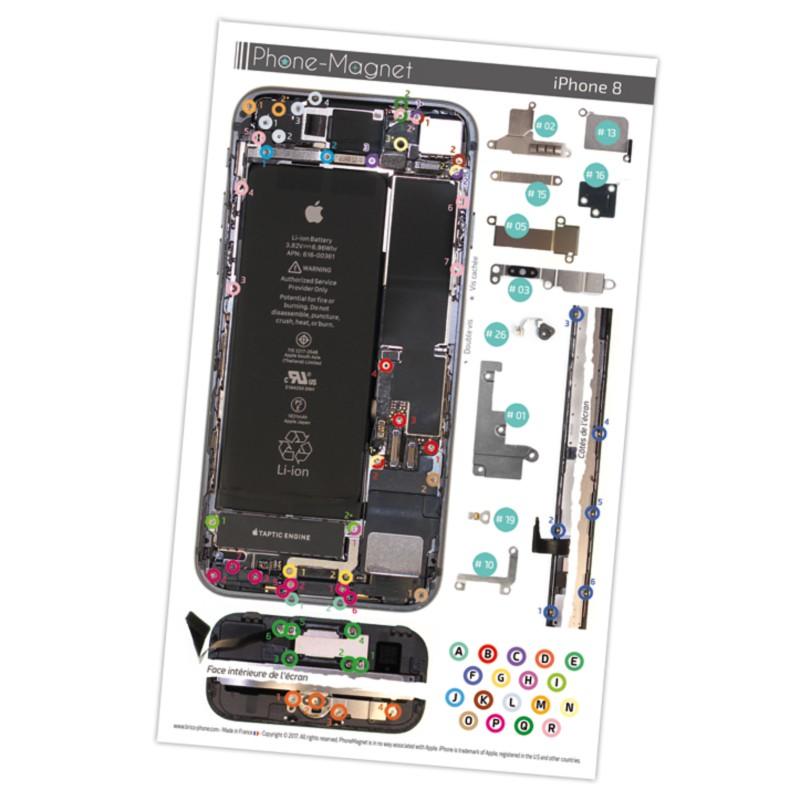 patron magn tique d 39 aide au montage pas pas pour iphone 8. Black Bedroom Furniture Sets. Home Design Ideas