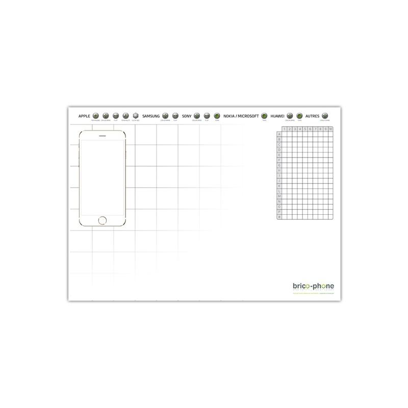 Plan de travail magnétique universel format A4 avec quadrillage pré-imprimé