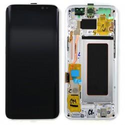 Bloc Ecran Amoled et vitre prémontés sur châssis pour Galaxy S8 Argent Polaire photo 2