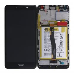 Bloc Ecran Noir COMPLET prémonté sur chassis + batterie pour Huawei Honor 6X photo 2