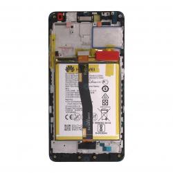 Bloc Ecran Noir COMPLET prémonté sur chassis + batterie pour Huawei Honor 6X photo 1
