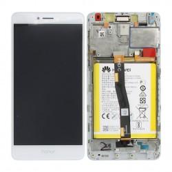 Bloc Ecran Blanc COMPLET prémonté sur chassis + batterie pour Huawei Honor 6X photo 3