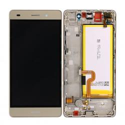 BLoc Ecran Or COMPLET prémonté + batterie sur chassis pour Huawei P8 LITE