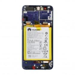 BLoc Ecran Bleu COMPLET prémonté sur chassis + batterie pour Huawei Honor 8 photo 3