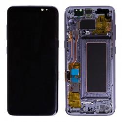 Bloc Ecran Amoled et vitre prémontés sur châssis pour Galaxy S8 Orchidée