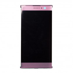 Bloc Ecran Rose avec vitre et LCD sur châssis pour Sony Xperia XA2