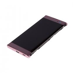 Bloc Ecran Rose avec vitre et LCD sur châssis pour Sony Xperia XA2 photo 3
