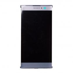 Bloc Ecran Argent avec vitre et LCD sur châssis pour Sony Xperia XA2