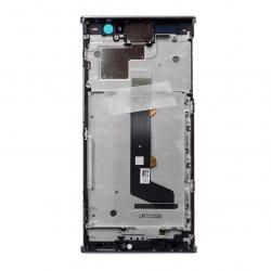Bloc Ecran Argent avec vitre et LCD sur châssis pour Sony Xperia XA2 photo 2