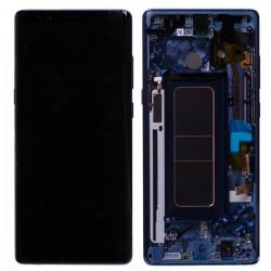 Bloc Ecran Amoled  et vitre prémontés pour Samsung Galaxy Note 8 Bleu Roi