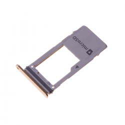Rack tiroir carte mémoire Micro SD pour Samsung Galaxy A8 2018 Or