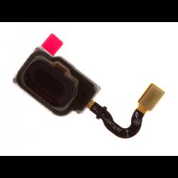 Nappe avec lecteur d'empreintes digitales pour Samsung A8 2018 et A8 2018 Plus Noir