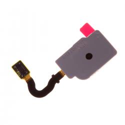 Nappe avec lecteur d'empreintes digitales pour Samsung A8 2018 et A8 2018 Plus Noir photo 2
