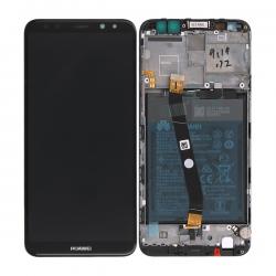 BLoc Ecran Noir COMPLET prémonté sur chassis + batterie pour Huawei Mate 10 Lite photo 1