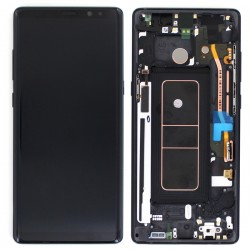 Bloc Ecran Amoled et vitre prémontés pour Samsung Galaxy Note 8 Noir Carbone photo 1