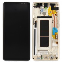 Bloc Ecran Amoled  et vitre prémontés pour Samsung Galaxy Note 8 Or Topaze photo 1