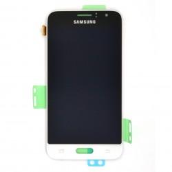 Ecran Amoled Blanc et vitre prémontés pour Samsung Galaxy J1 2016 photo 1