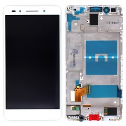 Ecran Blanc COMPLET (vitre + LCD) prémontés sur chassis pour Huawei Honor 7 photo 1