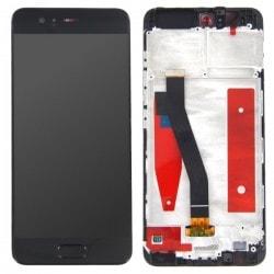 Bloc Ecran Noir COMPLET prémonté sur chassis pour Huawei P10 photo 1