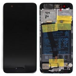 Bloc Ecran Noir COMPLET prémonté + batterie sur chassis pour Huawei P10 photo 1