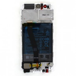 Bloc Ecran Blanc COMPLET prémonté + batterie sur chassis pour Huawei P10 photo 3