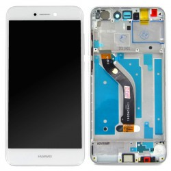 Ecran Blanc COMPLET prémonté sur châssis pour Huawei P8 Lite 2017 photo 1