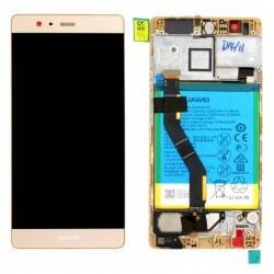 Ecran Or COMPLET prémonté + batterie sur chassis pour Huawei P9 Plus photo 1