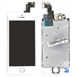 Ecran BLANC iPhone 5S et SE PREMIUM pré-assemblé photo 1