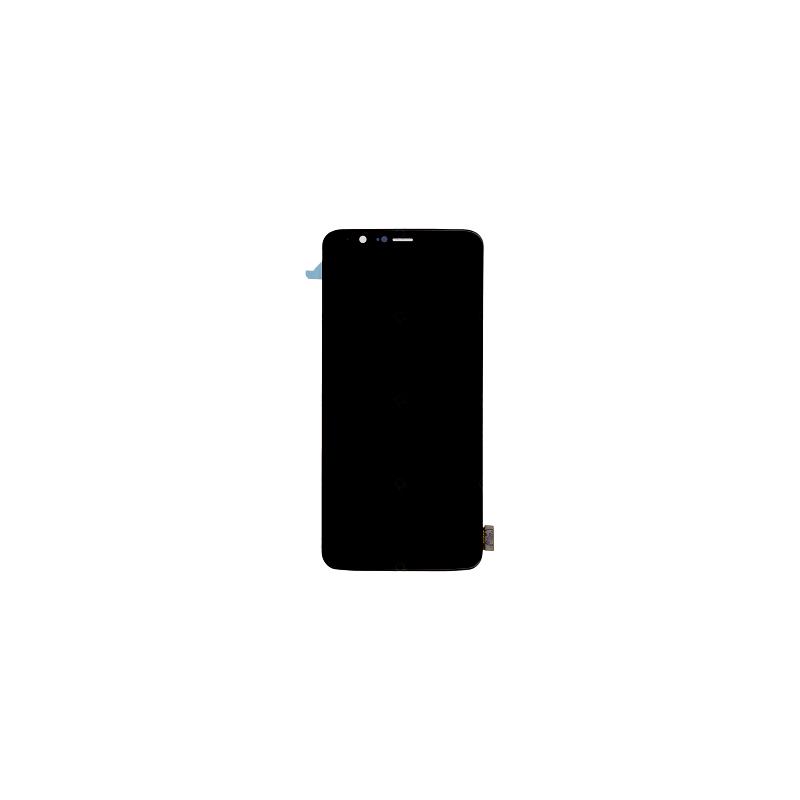 Ecran Noir Amoled et vitre prémontés pour Pour One Plus 5T photo 1