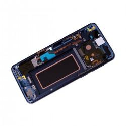 Bloc Ecran Amoled et vitre prémontés sur châssis pour Samsung Galaxy S9 Bleu Corail_photo3