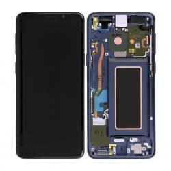 Bloc Ecran Amoled et vitre prémontés sur châssis pour Samsung Galaxy S9 Bleu Corail_photo4