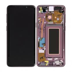 Bloc Ecran Amoled et vitre prémontés sur châssis pour Galaxy S9 Orchidée photo 1
