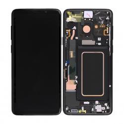 Bloc Ecran Amoled et vitre prémontés sur châssis pour Galaxy S9 Plus Noir Carbone photo 1