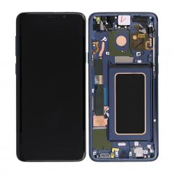 Bloc Ecran Amoled et vitre prémontés sur châssis pour Galaxy S9 Plus Bleu Océan photo 1