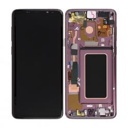 Bloc Ecran Amoled et vitre prémontés sur châssis pour Galaxy S9 Plus Orchidée photo 1
