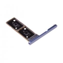 Rack tiroir pour cartes SIM pour Sony Xperia XA2 Ultra Dual Bleu