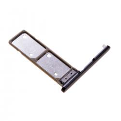 Rack tiroir pour 2 cartes SIM pour Sony Xperia XA2 Ultra Dual Noir