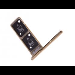 Rack tiroir pour 2 cartes SIM pour Sony Xperia XA2 Ultra Dual Or