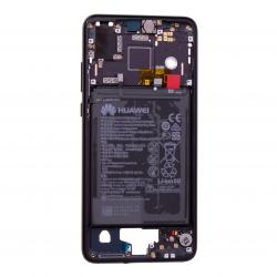 Châssis Intermédiaire avec batterie pour Huawei P20 Noir Photos 1